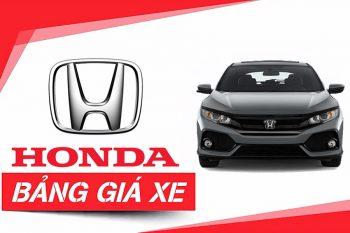 Bảng giá xe Honda Cần Thơ