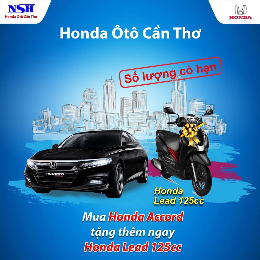 Mua xe Honda Accord tặng thêm ngay Honda Lead 125cc