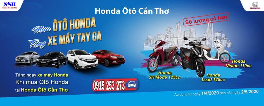 Mua ô tô Honda - Tặng xe máy tay ga
