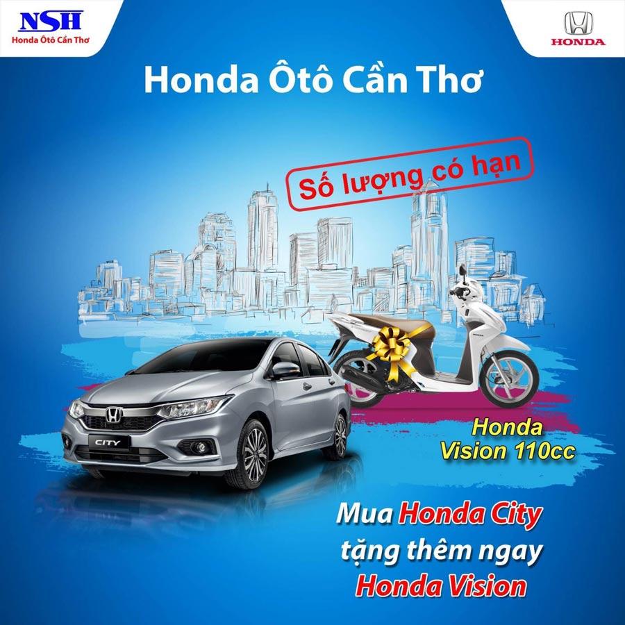 Mua Honda City tặng thêm ngay Honda Vision