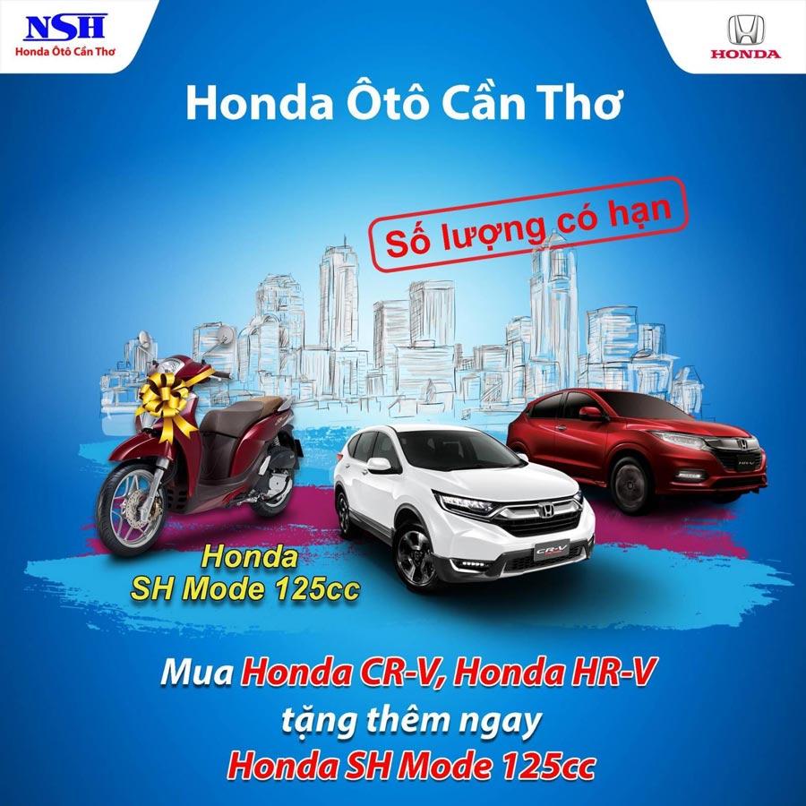 Mua Honda CR-V, Honda HR-V tặng thêm ngay Honda SH Mode 125cc