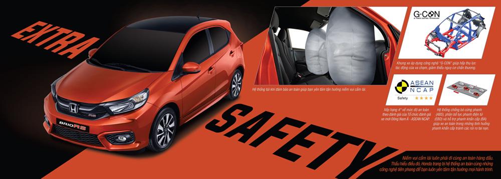 Trang bị an toàn trên Honda Brio