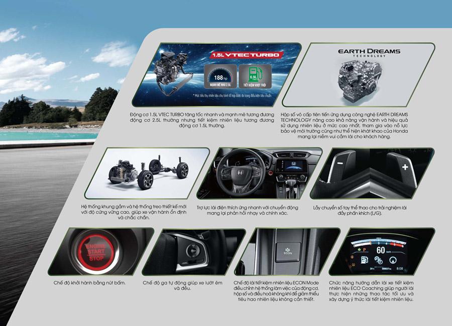 Honda CR-V Vận hành với động cơ 1.5L turbo tăng áp