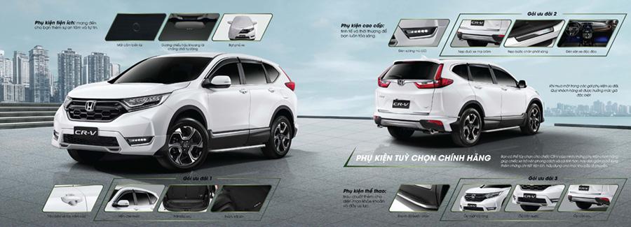 Tùy chọn trang bị trên Honda CR-V Cần Thơ