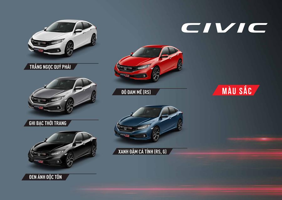 Màu xe Civic