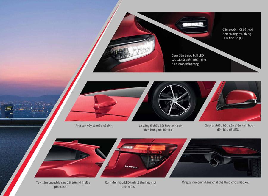 Trang bị ngoại thất Honda HR-V Cần Thơ