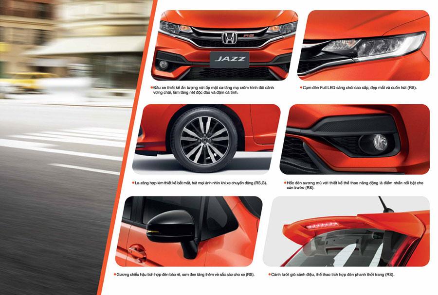 Honda Jazz Cần Thơ - Trang bị ngoại thất