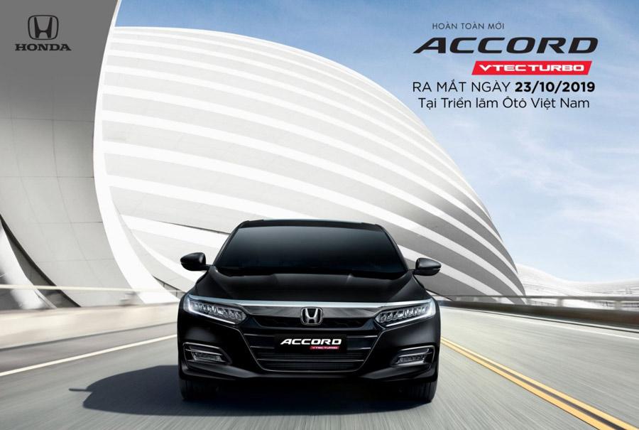 Honda Accord thế hệ thứ 10 sẽ ra mắt ngày 23/10/2019 tại Triển lãm Ôtô Việt Nam