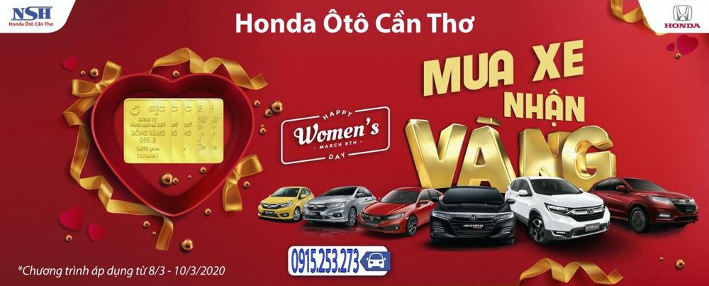 Ưu đãi Honda Ô Tô Cần Thơ tháng 3/2020: Mua xe trúng Vàng