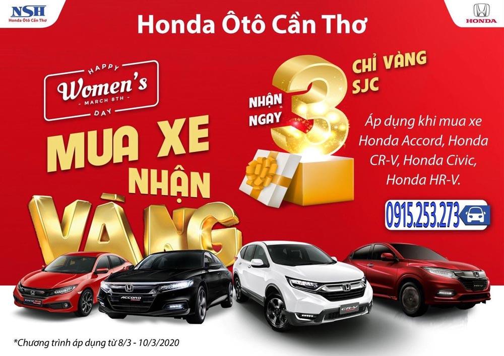 Mua xe trúng Vàng - Duy nhất chỉ có tại Honda Ô Tô Cần Thơ