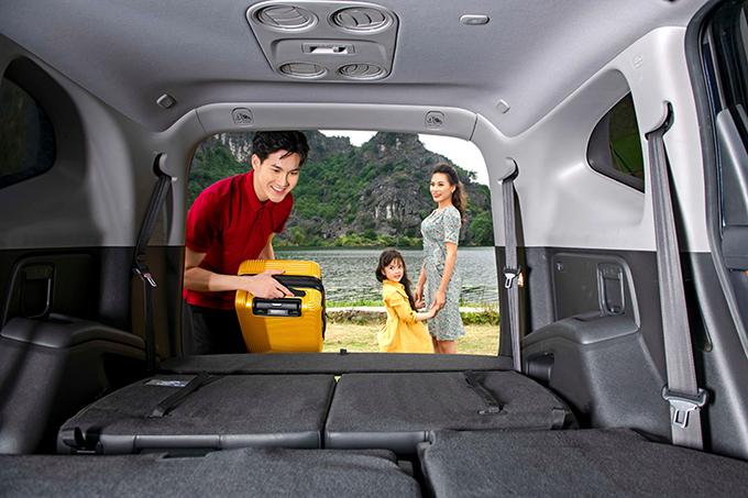 Khoang hành lý trên Honda CR-V.